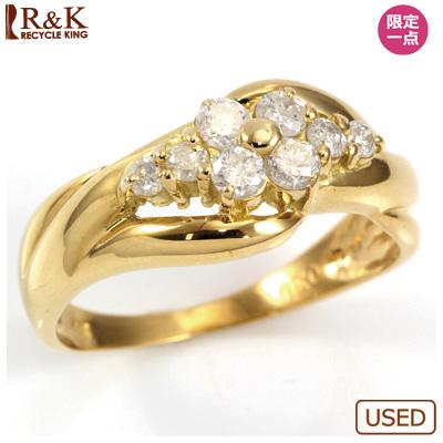 【送料無料】【中古】○K18 ダイヤモンドリング 指輪 D0.30 おしゃれ レディース 女性 かわいい 可愛い オシャレ 価格見直し0711