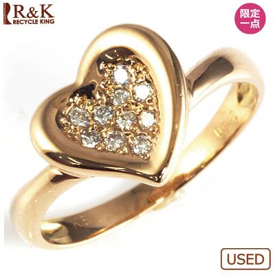 【送料無料】【中古】◎K18PG ダイヤモンドリング 指輪 D0.10 ハート ピンクゴールド おしゃれ レディース 女性 かわいい 可愛い オシャレ 価格見直し3005