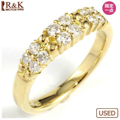 【送料無料】【中古】◎K18 ダイヤピンキーリング 指輪 D0.30 フラワー ファランジリング おしゃれ レディース 女性 かわいい 可愛い オシャレ 価格見直し0711