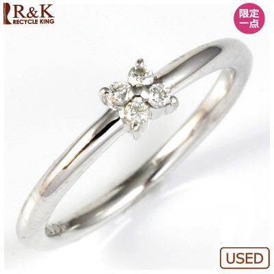 【送料無料】【中古】●K18WG ダイヤモンドリング 指輪 D0.06 おしゃれ レディース 女性 かわいい 可愛い オシャレ 価格見直し3005