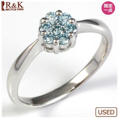 【送料無料】【中古】●K18WG ダイヤモンドリング 指輪 D0.28 フラワー おしゃれ レディース 女性 かわいい 可愛い オシャレ 価格見直し0711