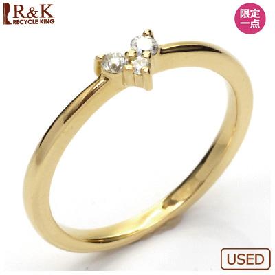 【送料無料】【中古】●K18 ダイヤモンドリング 指輪 D0.07 ハート 18金おしゃれ レディース 女性 かわいい 可愛い オシャレ 価格見直し3005