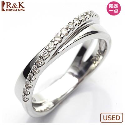 【送料無料】【中古】●K18WG ダイヤモンドリング 指輪 D0.16 18金ホワイトゴールド おしゃれ レディース 女性 かわいい 可愛い オシャレ 価格見直し3005