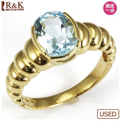 【送料無料】【中古】●K18 ブルートパーズリング 指輪 おしゃれ レディース 女性 かわいい 可愛い オシャレ 価格見直し3005