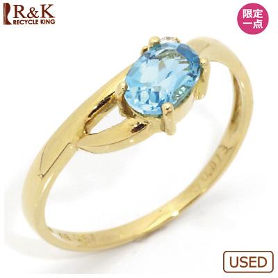 【送料無料】【中古】●K18 リング 指輪 ブルートパーズ ダイヤモンド D0.013 18金おしゃれ レディース 女性 かわいい 可愛い オシャレ 価格見直し3005