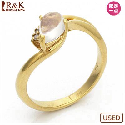 【送料無料】【中古】●K18 ピンキーリング 指輪 ダイヤモンド D0.02 ブルームーンストーン 18金 ファランジリング おしゃれ レディース 女性 かわいい 可愛い オシャレ[pd] 価格見直し3005