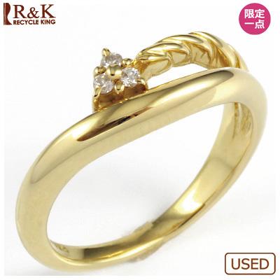 【送料無料】【中古】◎K18 ダイヤピンキーリング 指輪 ファランジリング おしゃれ レディース 女性 かわいい 可愛い オシャレ 価格見直し0711