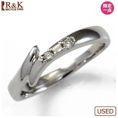 【送料無料】【中古】○K14WG ダイヤピンキーリング 指輪 D0.02 ファランジリング おしゃれ レディース 女性 かわいい 可愛い オシャレ 価格見直し3005