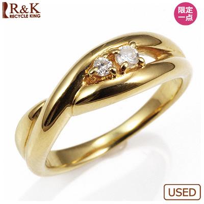 【送料無料】【中古】◎K18 ダイヤピンキーリング 指輪 D0.04 ファランジリング おしゃれ レディース 女性 かわいい 可愛い オシャレ 価格見直し0711