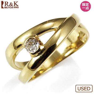 【送料無料】【中古】●K18 ダイヤピンキーリング 指輪 D0.08 ファランジリング おしゃれ レディース 女性 かわいい 可愛い オシャレ 価格見直し3005