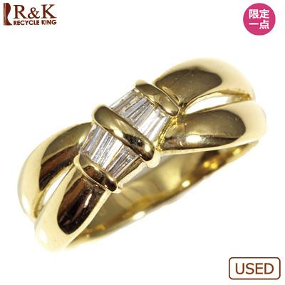 【送料無料】【中古】◎K18 ダイヤピンキーリング 指輪 D0.15 ファランジリング おしゃれ レディース 女性 かわいい 可愛い オシャレ 価格見直し0711