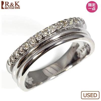 【送料無料】【中古】●K18WG ダイヤピンキーリング 指輪 D0.15 ファランジリング おしゃれ レディース 女性 かわいい 可愛い オシャレ 価格見直し3005