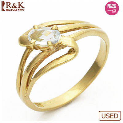 【送料無料】【中古】●K18 ピンキーリング 指輪 ブルートパーズ 18金 ファランジリング おしゃれ レディース 女性 かわいい 可愛い オシャレ 価格見直し3005