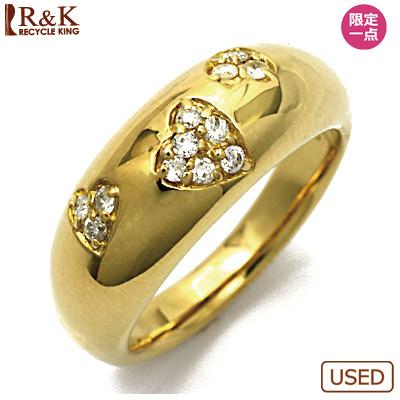 【送料無料】【中古】●K18 ダイヤモンドピンキーリング 指輪 D0.11 ハート パヴェ 18金 ファランジリング おしゃれ レディース 女性 かわいい 可愛い オシャレ 価格見直し3005
