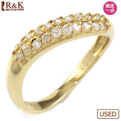 【送料無料】【中古】◎K18 ダイヤピンキーリング 指輪 D0.20 パヴェ ファランジリング おしゃれ レディース 女性 かわいい 可愛い オシャレ 価格見直し3005