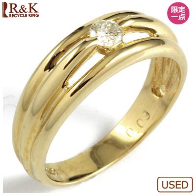 【送料無料】【中古】◎K18 ダイヤピンキーリング 指輪 D0.09 ファランジリング おしゃれ レディース 女性 かわいい 可愛い オシャレ 価格見直し3005