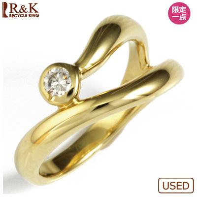 【送料無料】【中古】◎K18 ダイヤピンキーリング 指輪 D0.08 ファランジリング おしゃれ レディース 女性 かわいい 可愛い オシャレ 価格見直し3005