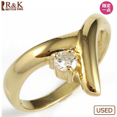 【送料無料】【中古】◎K18 ダイヤピンキーリング 指輪 D0.11 ファランジリング おしゃれ レディース 女性 かわいい 可愛い オシャレ 価格見直し0711