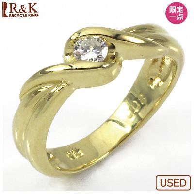 【送料無料】【中古】●K18 ダイヤピンキーリング 指輪 D0.08 18金 ファランジリング おしゃれ レディース 女性 かわいい 可愛い オシャレ 価格見直し0711