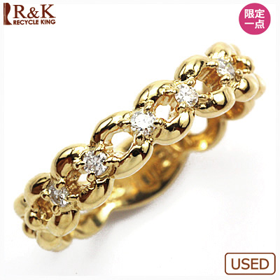 【送料無料】【中古】●K18 ダイヤピンキーリング 指輪 D0.07 18金 ファランジリング おしゃれ レディース 女性 かわいい 可愛い オシャレ 価格見直し3005