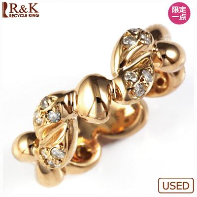 【送料無料】【中古】◎K18PG ダイヤピンキーリング 指輪 D0.20 18金ピンクゴールド ファランジリング おしゃれ レディース 女性 かわいい 可愛い オシャレ 価格見直し3005