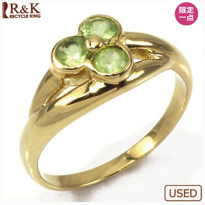 【送料無料】【中古】●K18 ピンキーリング 指輪 ペリドット 18金 ファランジリング おしゃれ レディース 女性 かわいい 可愛い オシャレ 価格見直し3005