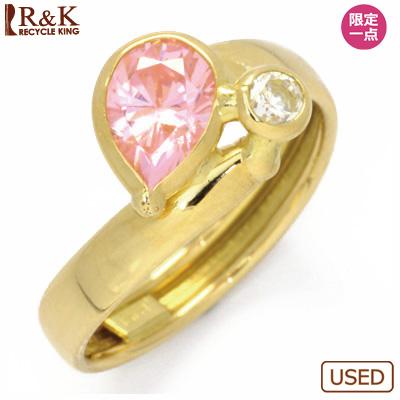 【送料無料】【中古】●K18 ピンキーリング 指輪 キュービックジルコニア CZ 18金 ファランジリング おしゃれ レディース 女性 かわいい 可愛い オシャレ 価格見直し3005
