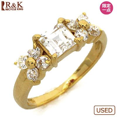【送料無料】【中古】●K18 ピンキーリング 指輪 キュービック・ジルコニア 18金 ファランジリング おしゃれ レディース 女性 かわいい 可愛い オシャレ 価格見直し3005