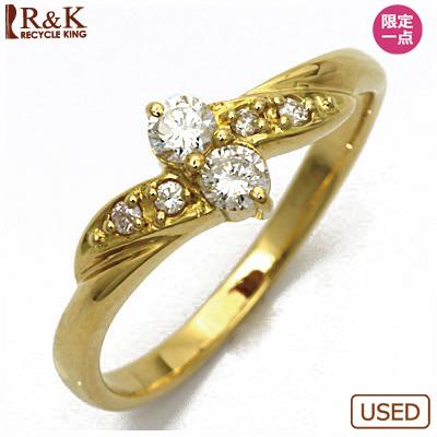 【送料無料】【中古】●K18 ダイヤモンドピンキーリング 指輪 D0.07 18金 ファランジリング おしゃれ レディース 女性 かわいい 可愛い オシャレ 価格見直し0711
