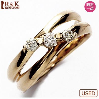 【送料無料】【中古】●K18PG ダイヤピンキーリング 指輪 D0.14 18金ピンクゴールド ファランジリング おしゃれ レディース 女性 かわいい 可愛い オシャレ 価格見直し3005