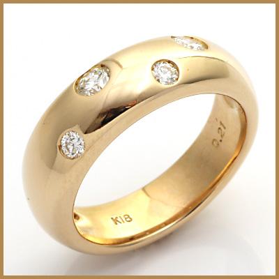 【送料無料】【中古】●K18PG ダイヤモンド ピンキーリング 指輪 リング D0.21 18金 ピンクゴールド ファランジリング レディース 女性 可愛い カワイイ かわいい おしゃれ オシャレ ドット 水玉 シンプル 価格見直し3005