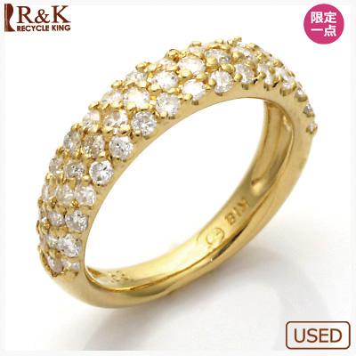 【送料無料】【中古】●K18 ダイヤモンドピンキーリング 指輪 D0.53 パヴェ 18金 ファランジリング おしゃれ レディース 女性 かわいい 可愛い オシャレ 価格見直し0711