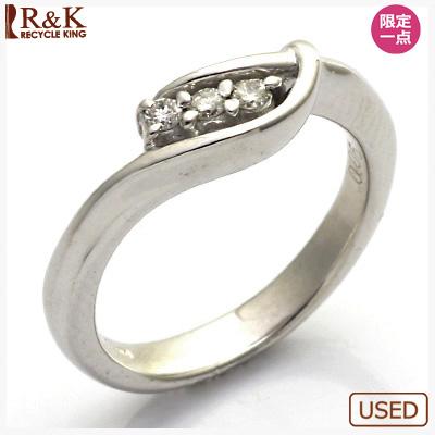 【送料無料】【中古】●K18WG ダイヤモンドピンキーリング 指輪 D0.06 18金 ファランジリング おしゃれ レディース 女性 かわいい 可愛い オシャレ 価格見直し3005