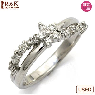 【送料無料】【中古】●K18WG ダイヤモンドピンキーリング 指輪 D0.12 18金ホワイトゴールド ファランジリング おしゃれ レディース 女性 かわいい 可愛い オシャレ 価格見直し3005
