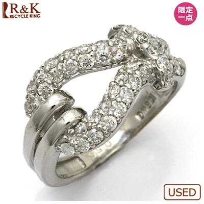 【送料無料】【中古】●K18WG ダイヤモンド ピンキーリング リング 指輪 D0.50 ベルト調 18金 ホワイトゴールド ファランジリング 0.5カラット レディース 女性 カワイイ かわいい おしゃれ オシャレ 価格見直し3005