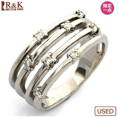 【送料無料】【中古】●K18WG ダイヤモンドピンキーリング 指輪 D0.11 18金ホワイトゴールド ファランジリング おしゃれ レディース 女性 かわいい 可愛い オシャレ 価格見直し3005