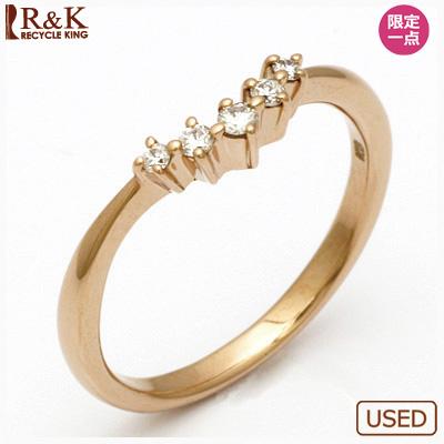 【送料無料】【中古】◎K18PG ダイヤモンドピンキーリング 指輪 ダイヤ 18金ピンクゴールド ファランジリング おしゃれ レディース 女性 かわいい 可愛い オシャレ 価格見直し3005