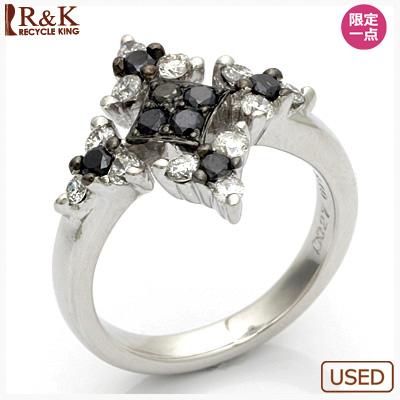 【送料無料】【中古】●K18WG ダイヤモンドピンキーリング 指輪 D0.46 18金ホワイトゴールド ファランジリング おしゃれ レディース 女性 かわいい 可愛い オシャレ 価格見直し3005