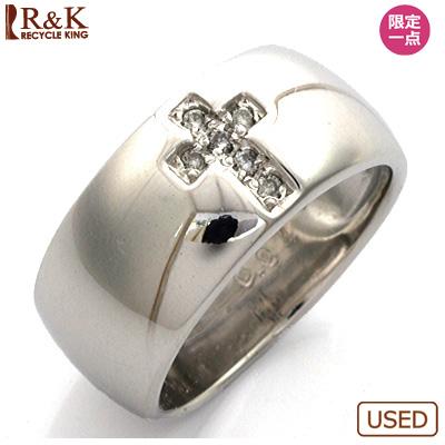 【送料無料】【中古】●K18WG ダイヤモンドピンキーリング 指輪 D0.04 クロス 18金ホワイトゴールド おしゃれ レディース 女性 かわいい 可愛い オシャレ 価格見直し0711