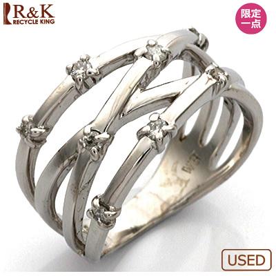 【送料無料】【中古】●K18WG ダイヤモンドピンキーリング 指輪 D0.11 18金ホワイトゴールド おしゃれ レディース 女性 かわいい 可愛い オシャレ 価格見直し0711