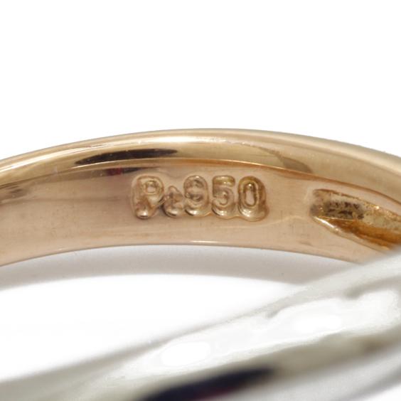 PT950 K18 ピンキーリング 指輪 ダイヤモンド 2カラー フラワー 4号 プラチナ 18金 ゴールド 18K レディース 女性 おしゃれ 可愛い アクセサリー プレゼント 価格見直し0711