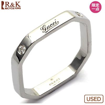 【送料無料】【中古】K18WG ダイヤモンドリング 指輪 GUCCI 16号 #16 18金【BJ】 おしゃれ レディース 女性 かわいい 可愛い オシャレ sharel 価格見直し0711