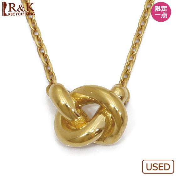 【中古】【送料無料】K18 デザインネックレス 18K 18金 ゴールド レディース 女性 おしゃれ 可愛い アクセサリー プレゼント 価格見直し3005