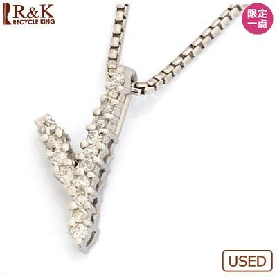 【送料無料】【中古】●K18WG ダイヤモンドネックレス D0.12 18金ホワイトゴールドおしゃれ レディース 女性 かわいい 可愛い オシャレ 価格見直し0711