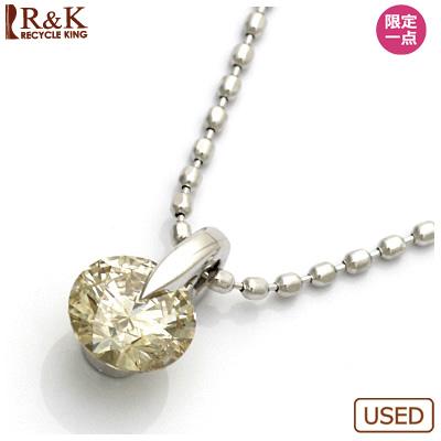 【送料無料】【中古】●K18WG ダイヤモンドネックレス D0.33 18金ホワイトゴールド おしゃれ レディース 女性 かわいい 可愛い オシャレ 価格見直し3005