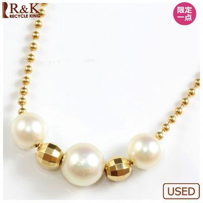 【送料無料】【中古】●K18 ネックレス パール 真珠おしゃれ レディース 女性 かわいい 可愛い オシャレ 価格見直し3005