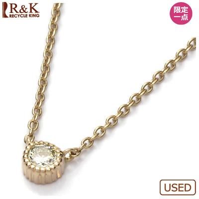 【送料無料】【中古】●K18PG ダイヤモンドネックレス D0.11 ピンクゴールドおしゃれ レディース 女性 かわいい 可愛い オシャレ 価格見直し0711