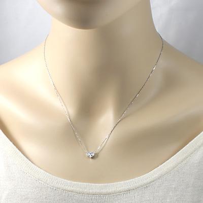 送料無料K18WG ダイヤモンドネックレス D0 24 ハート 18金 おしゃれ レディース 女性 かわいい 可愛い オシャレ 価格見直し0711O0NXkwPZ8n