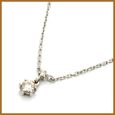 【送料無料】【中古】◎K18WG デザインネックレス ダイヤモンド D0.06 チェーン 18金ホワイトゴールドおしゃれ レディース 女性 かわいい 可愛い オシャレ 価格見直し3005
