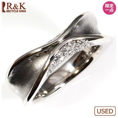 【送料無料】【中古】◎PT900 ダイヤモンドリング 指輪 D0.37 パヴェ おしゃれ レディース 女性 かわいい 可愛い オシャレ 価格見直し0711
